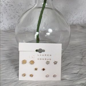 🆕 LC Lauren Conrad Stud Earring Set